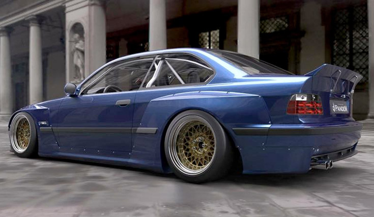 Pandem Rocket Bunny E36 Widebody Kit Ikonic Auto Garage